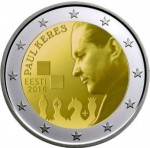 2 euro Estonia Paul Keres 2016