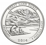 USA 25 c x 3 Great Sand Dunes 2014 nr 24 P+D+S